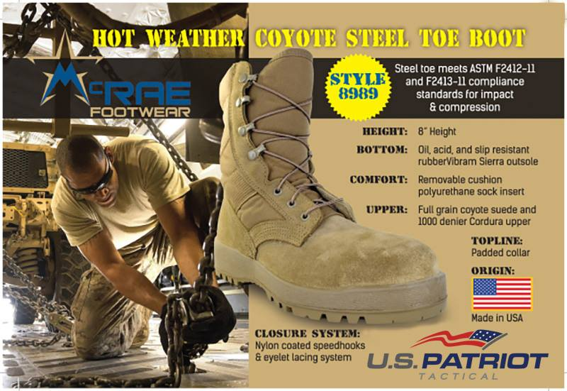 Steel Toe Combat Boot
