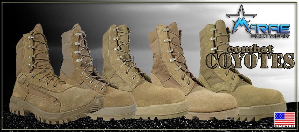 Coyote Combat Boots