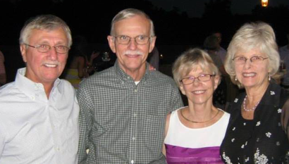 Family ties: Gary, Jim, Sandy, and Gail in recent times.