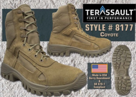 Wearability and comfort: McRae's Terassault line of military boots, featuring GORE-TEX fabric.
